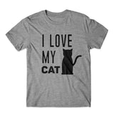 I Love My Cat T-Shirt 100% Cotton Premium Tee