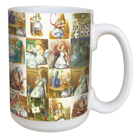 Alice in Wonderland Coffee Mug Large 15 Ounce Ceramic Mug
