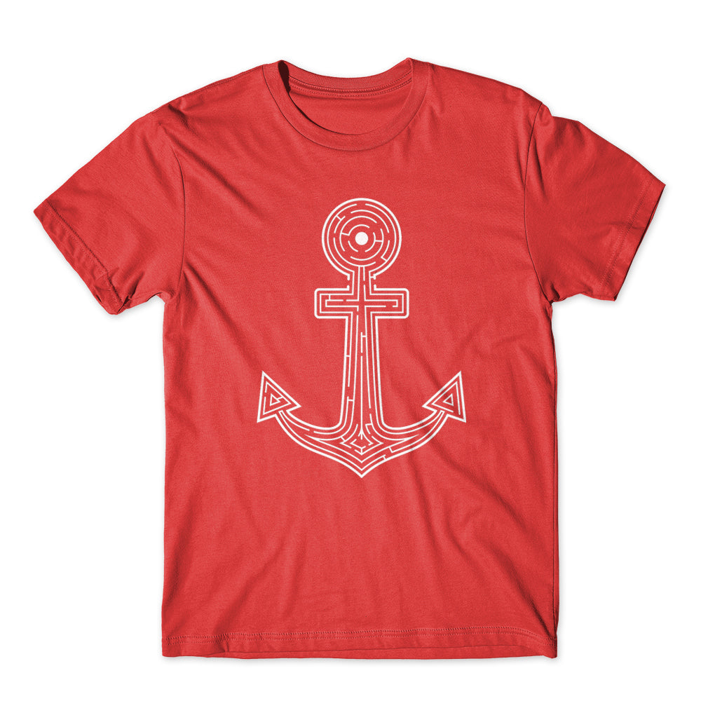 Vintage Nautical Labyrint Anchor T-Shirt 100% Cotton Premium Tee NEW