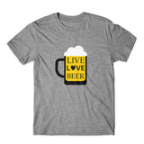 Live Love Beer T-Shirt 100% Cotton Premium Tee