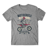 Motocross Retro Rebel T-Shirt 100% Cotton Premium Tee NEW