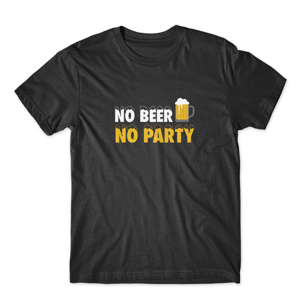 No Beer No Party T-Shirt 100% Cotton Premium Tee