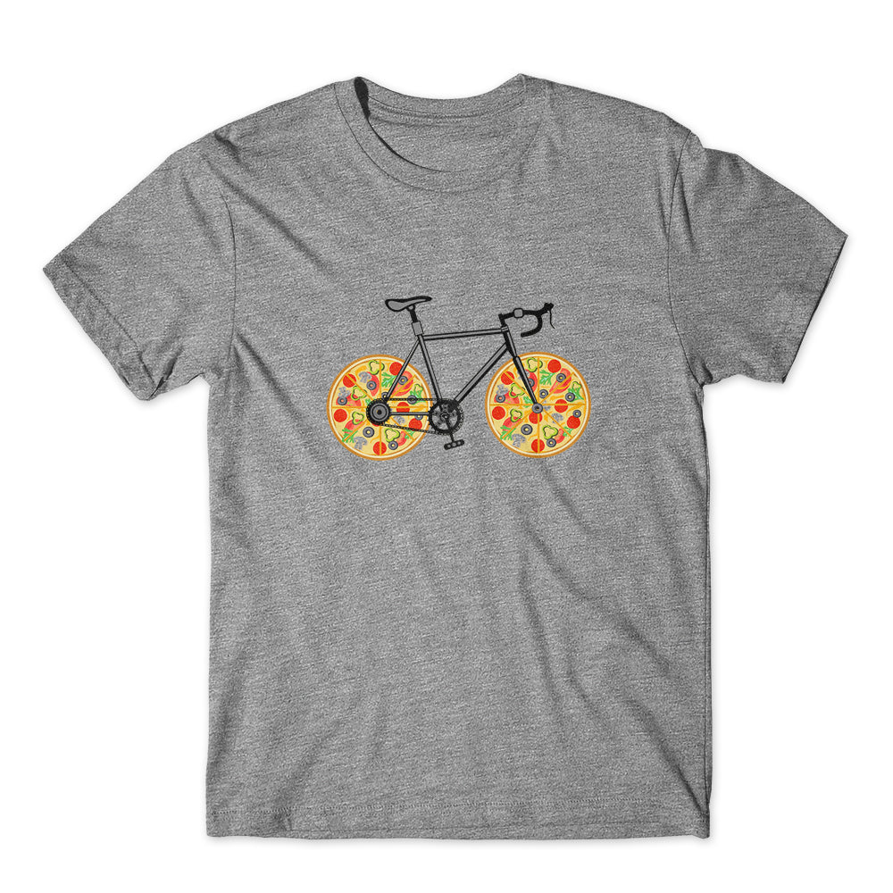 Pizza Bike Funny T-Shirt 100% Cotton Premium Tee NEW