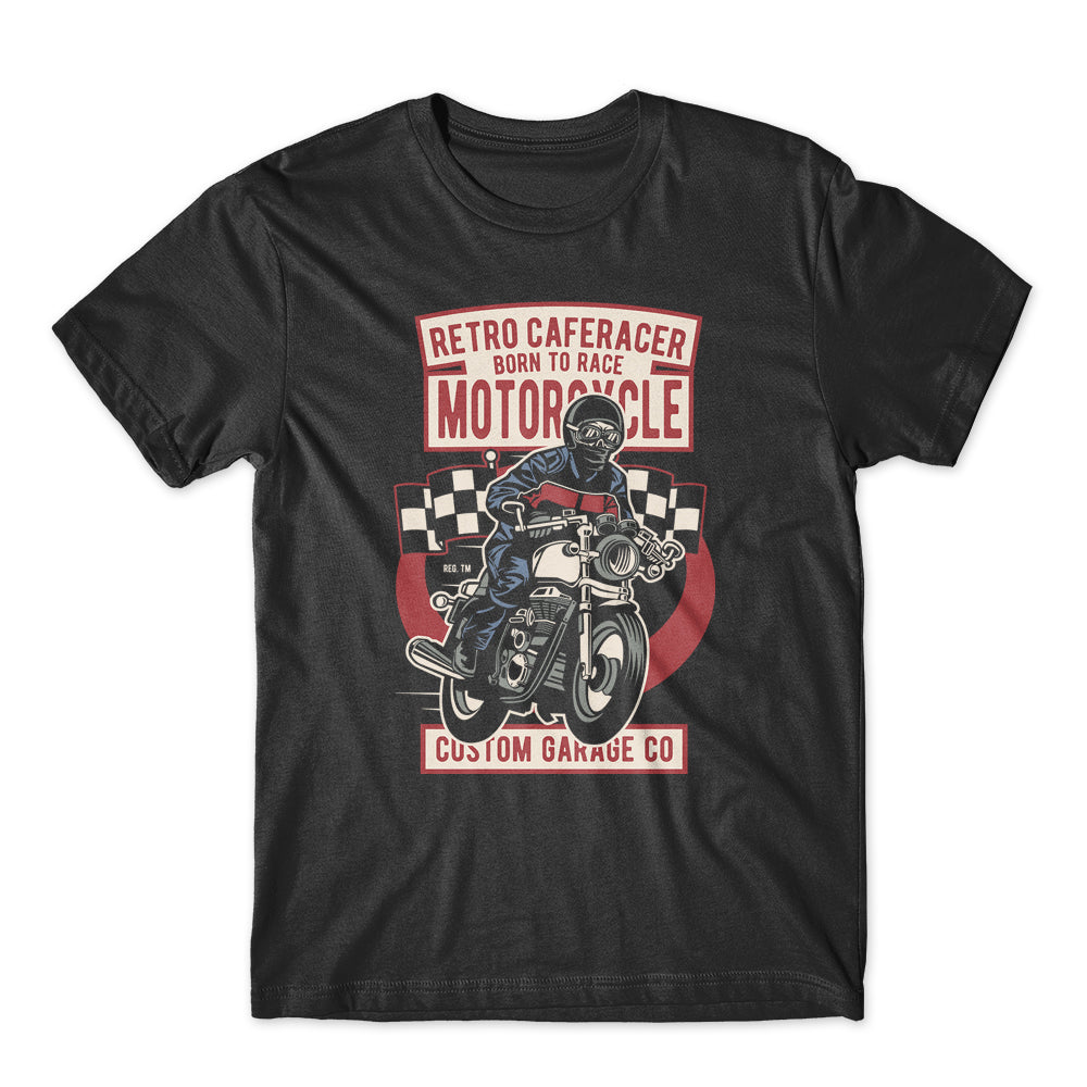 Retro Caferacer MotorCycle T-Shirt 100% Cotton Premium Tee NEW