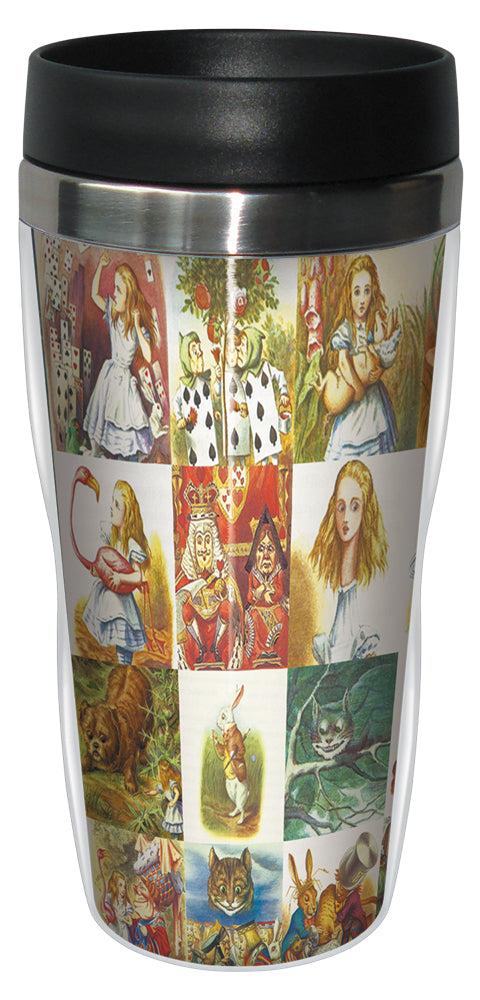 Alice in Wonderland 16 Ounce Travel Mug