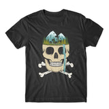 Skull Wild Waterfall T-Shirt 100% Cotton Premium Tee NEW