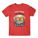 Travel Around The World T-Shirt 100% Cotton Premium Tee NEW