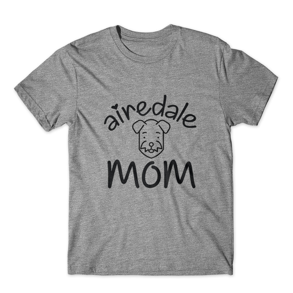 Airedale Mom T-Shirt 100% Cotton Premium Tee