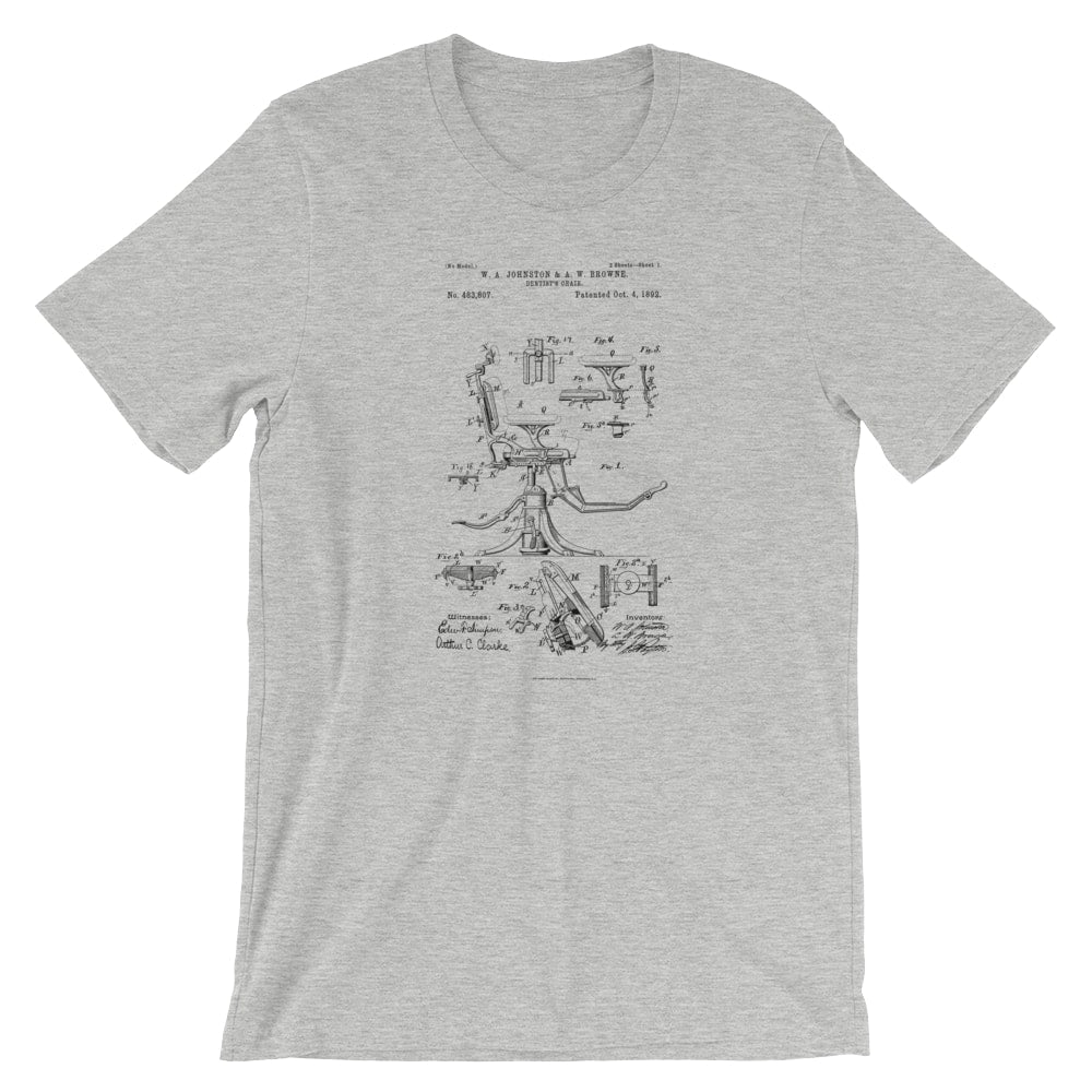 Dentists Chair Patent T-Shirt - Mighty Circus