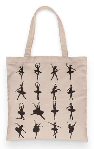 "Ballerina Tote 100% Cotton Fun Grocery Tote, Book Tote, Office Tote. Premium Cotton Canvas 15.5"" by 19.5 "" with 5"" Gusset on bottom"