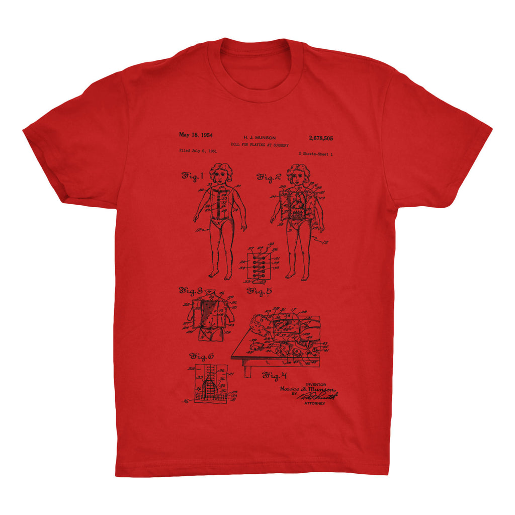 Surgery Doll Patent T-Shirt - Mighty Circus
