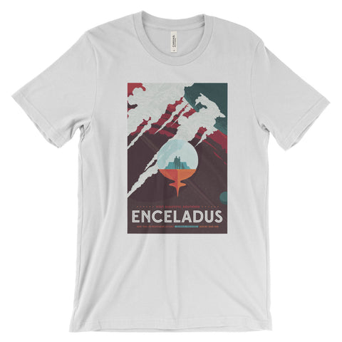Enceladus Poster Print T-Shirt from NASA - Mighty Circus