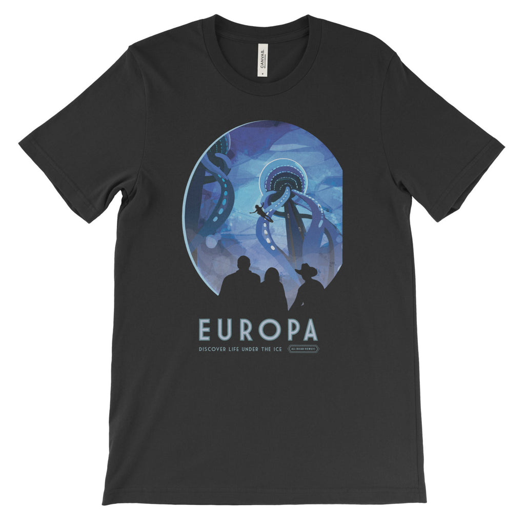 Europa Poster Print T-Shirt from NASA - Mighty Circus