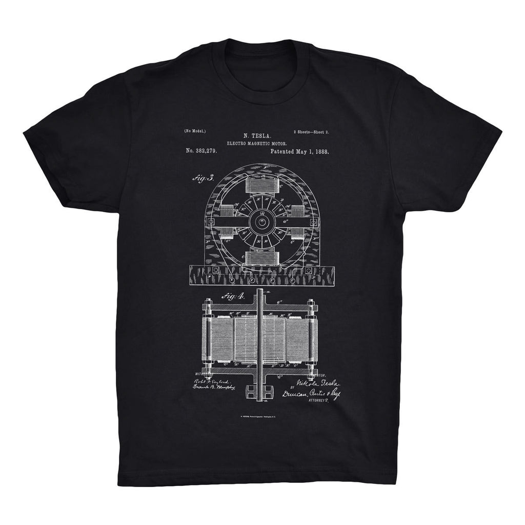 Electro Motor Patent T-Shirt - Mighty Circus