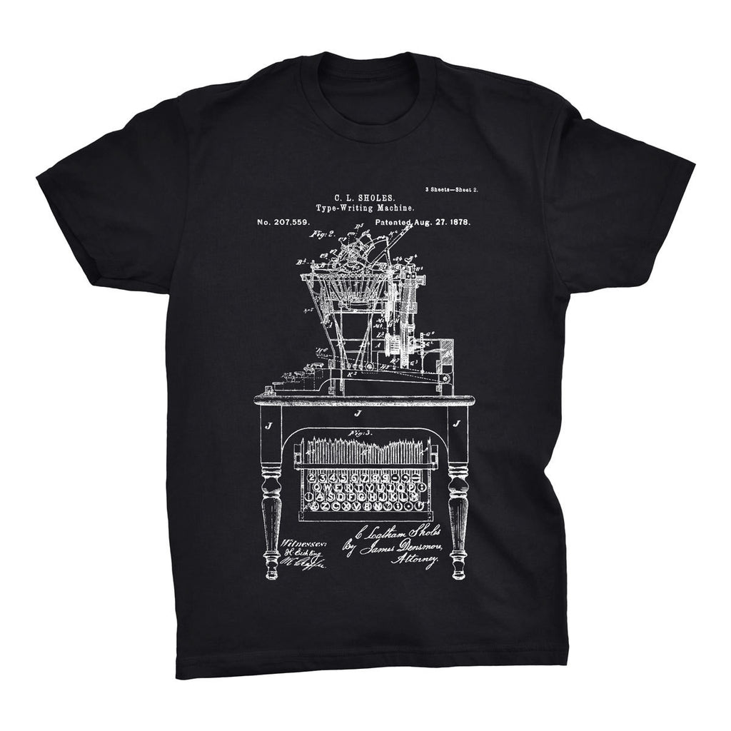 Typewriter Patent T-Shirt - Mighty Circus