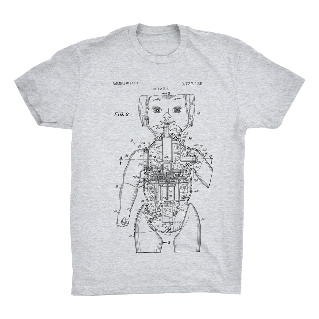 Robot Doll Patent T-Shirt - Mighty Circus