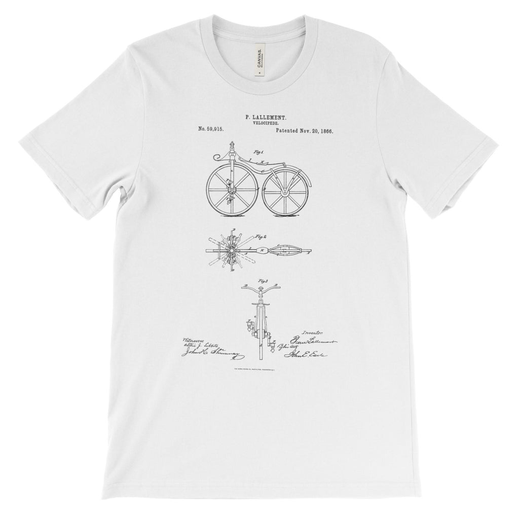 Bicycle Patent T-Shirt - Mighty Circus