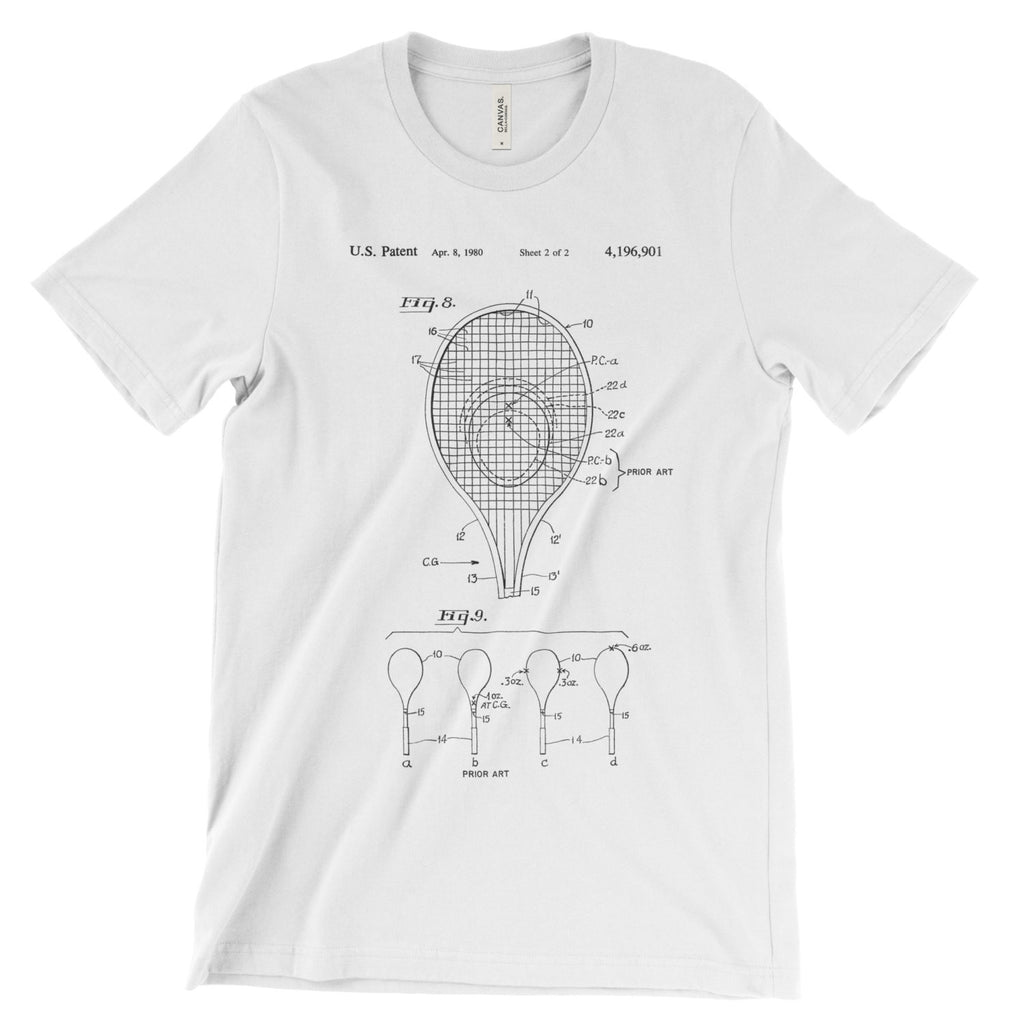 Tennis Racket Patent T-Shirt - Mighty Circus