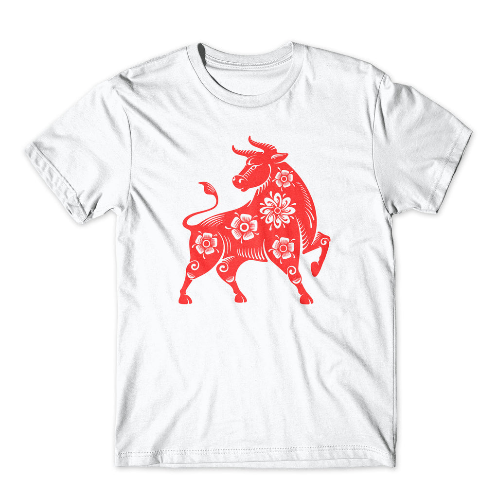 Year of the Ox Shirt. On Black or White Soft Cotton  Premium Shirt. Chinese New Year Tee. Comfy!