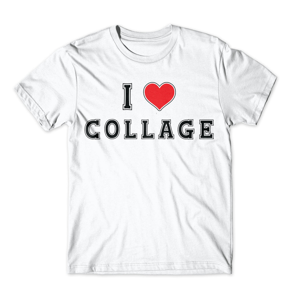 I Love Collage Shirt. On Black, White, or Gray Soft Cotton  Premium Shirt. Funny College Tee. Comfy!