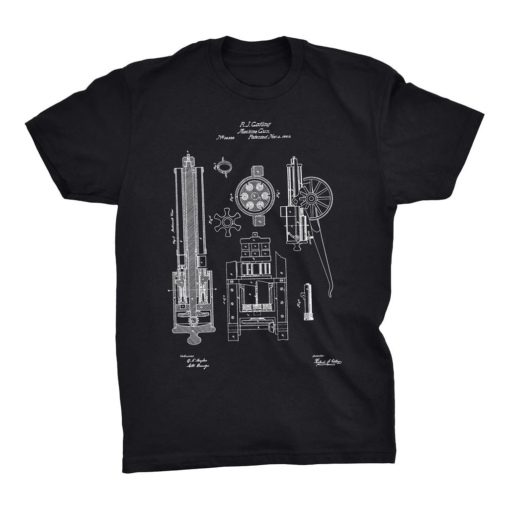 Machine Gun Patent T-Shirt - Mighty Circus