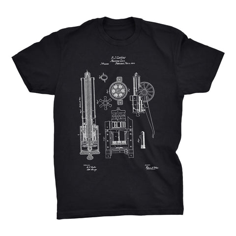 Machine Gun Patent T-Shirt