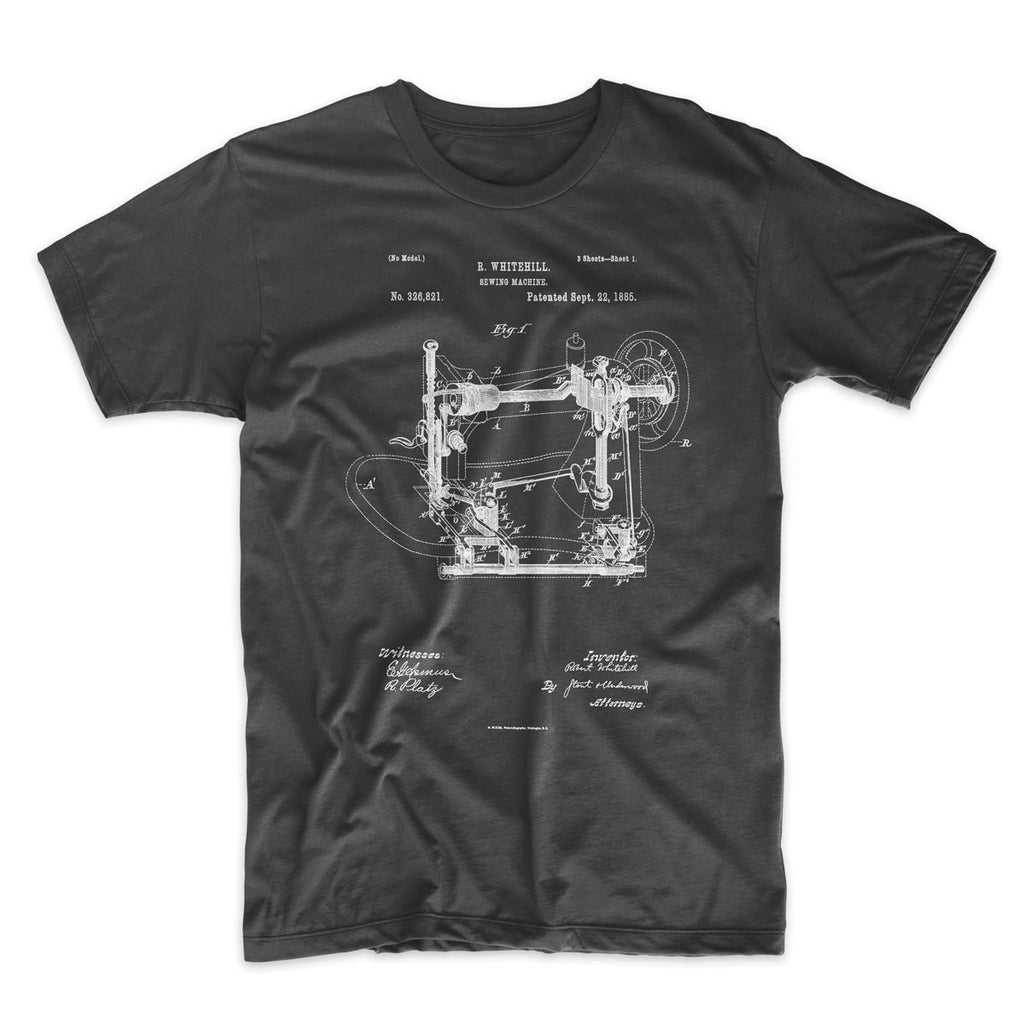 Sewing Machine Patent T-Shirt - Mighty Circus