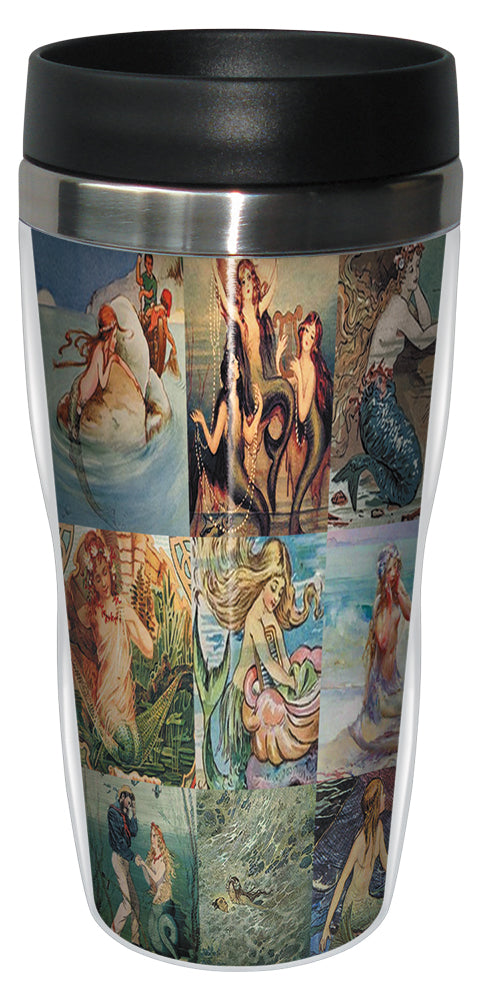 Mermaids 16 Ounce Travel Mug