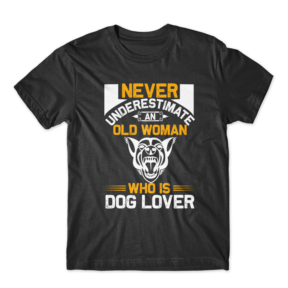 Never Underestimate An Old Woman T-Shirt 100% Cotton Premium Tee