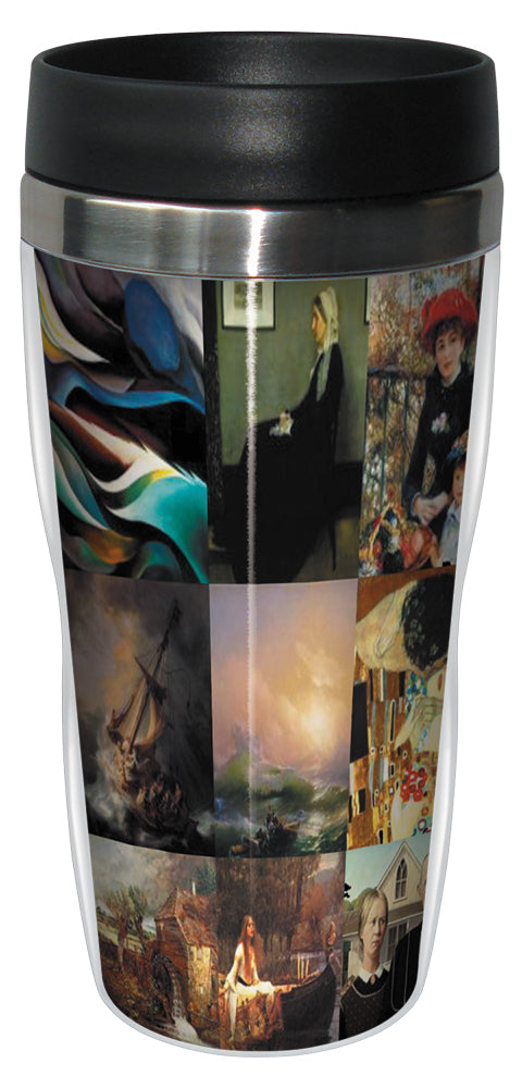 Famous Paintings 16 Ounce Travel Mug