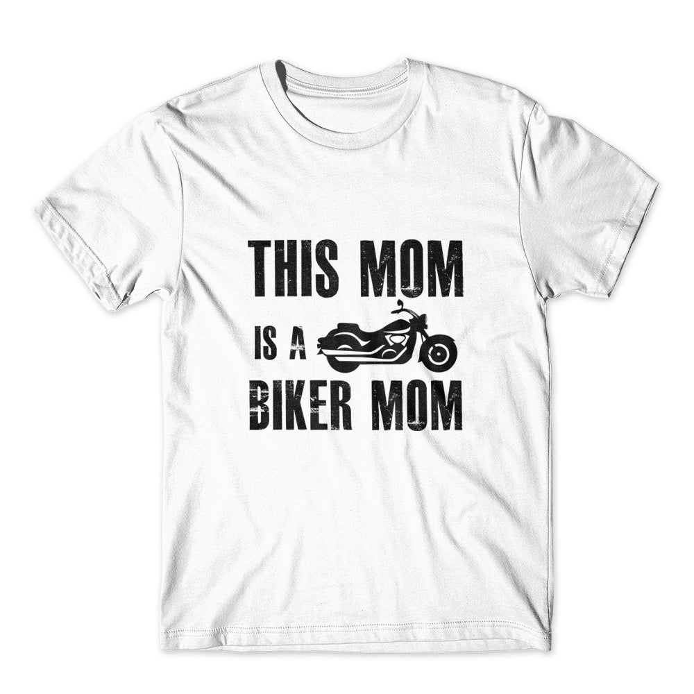 This Mom Is A Biker Mom T-Shirt 100% Cotton Premium Tee