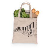 Piano Music Tote, Grocery Tote, Book Tote, Office Tote, 100% Cotton Fun Tote