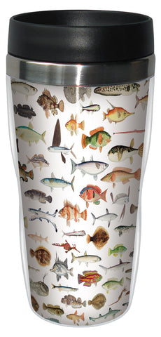 Fish 16 Ounce Travel Mug
