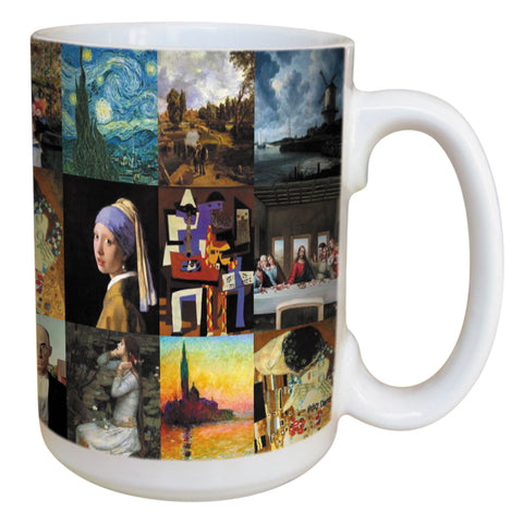 Famous Paintings Coffee Mug Large 15 Ounce Ceramic Mug