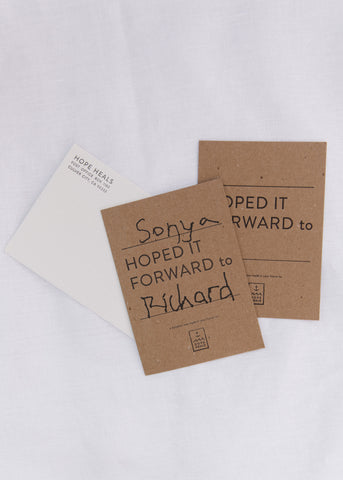 "Personalized ""IN HONOR OF"" Donation Letterpress Card"