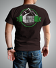 Mens Chocolate Retro Badge Back Graphic T-shirt for HGTV Timber Kings Merchandise