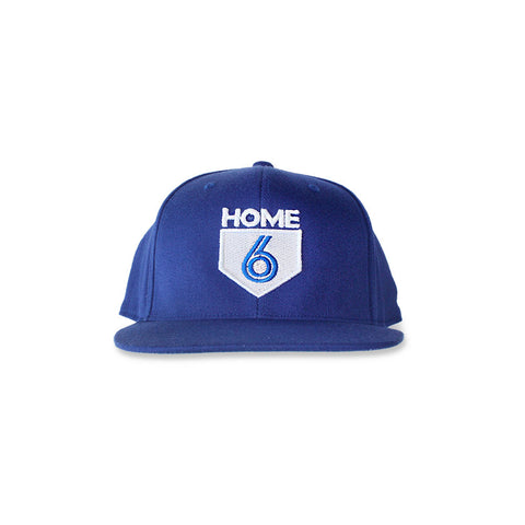 6 is Home Unisex 3/4 Sleeve Tee (White/Blue)