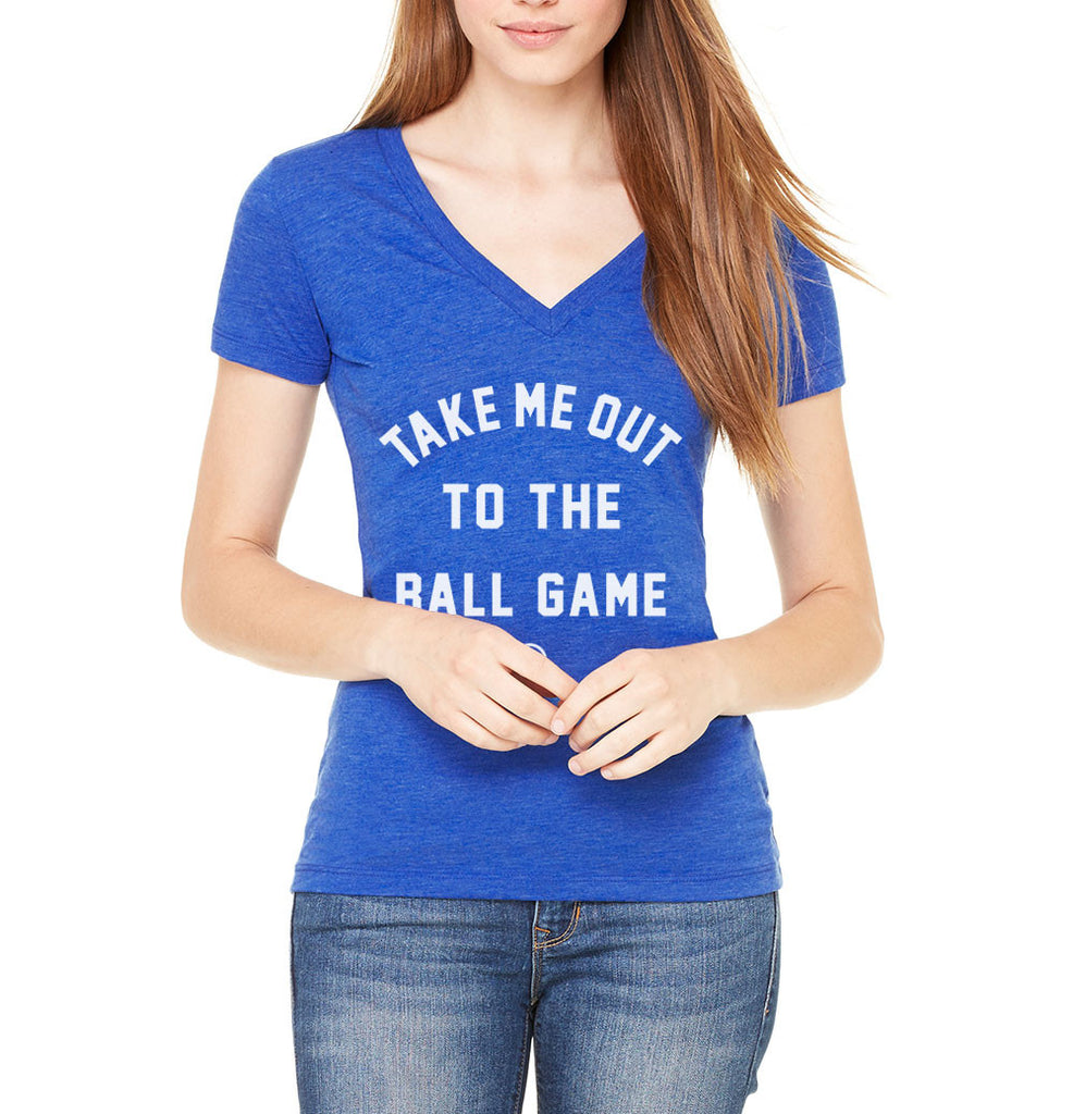 Ball Game Women's Deep-V (Royal Triblend) - LOYAL to a TEE