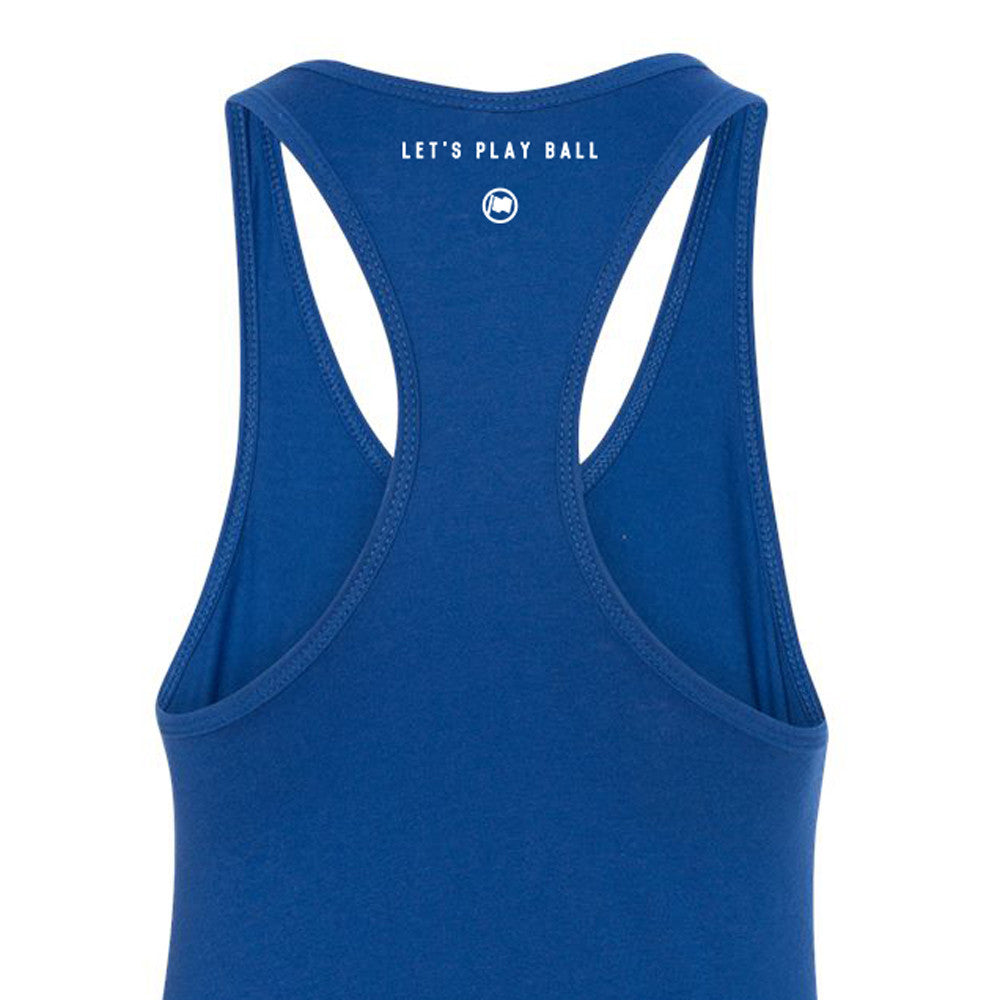 Baseball Babe Women's Racerback Tank (Blue) - LOYAL to a TEE