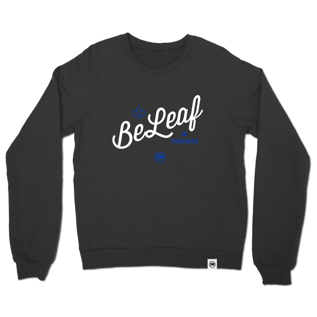 BeLeaf Unisex French Terry Crewneck (Vintage Black)