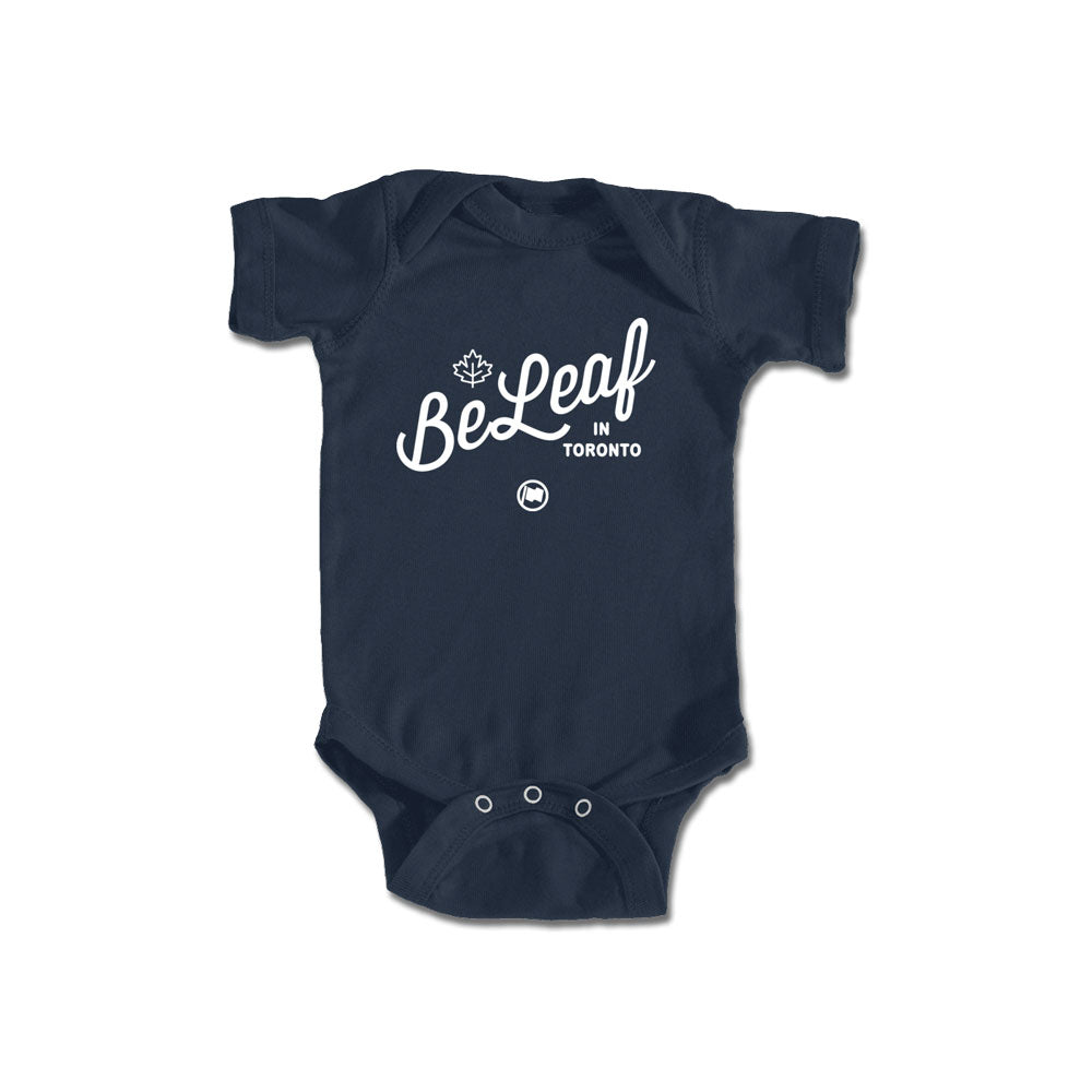 BeLeaf Baby Onesie (Navy) - LOYAL to a TEE