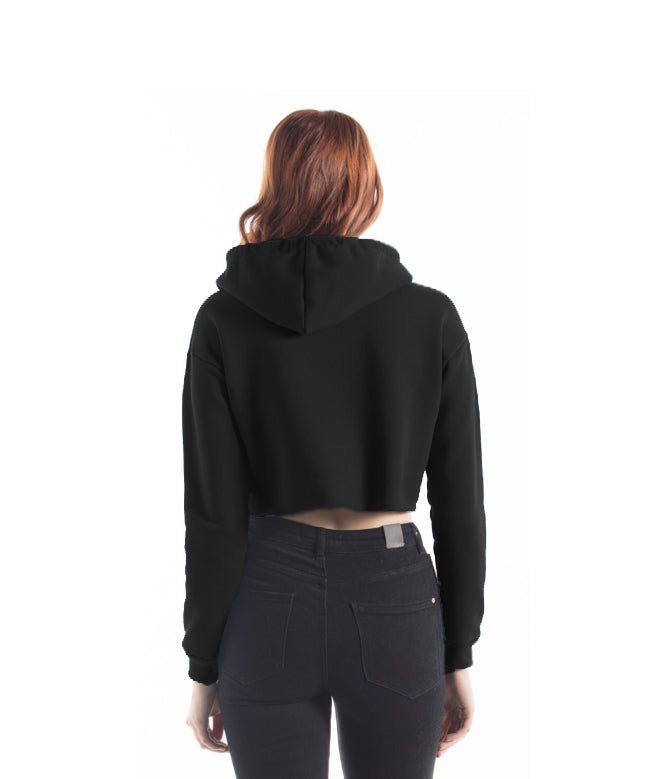 Toronto Puff Women's Cropped Hoodie (Black) - LOYAL to a TEE