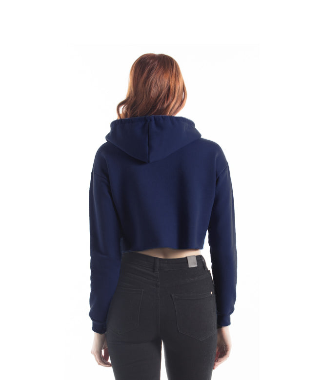 Toronto Puff Women's Cropped Hoodie (Navy) - LOYAL to a TEE