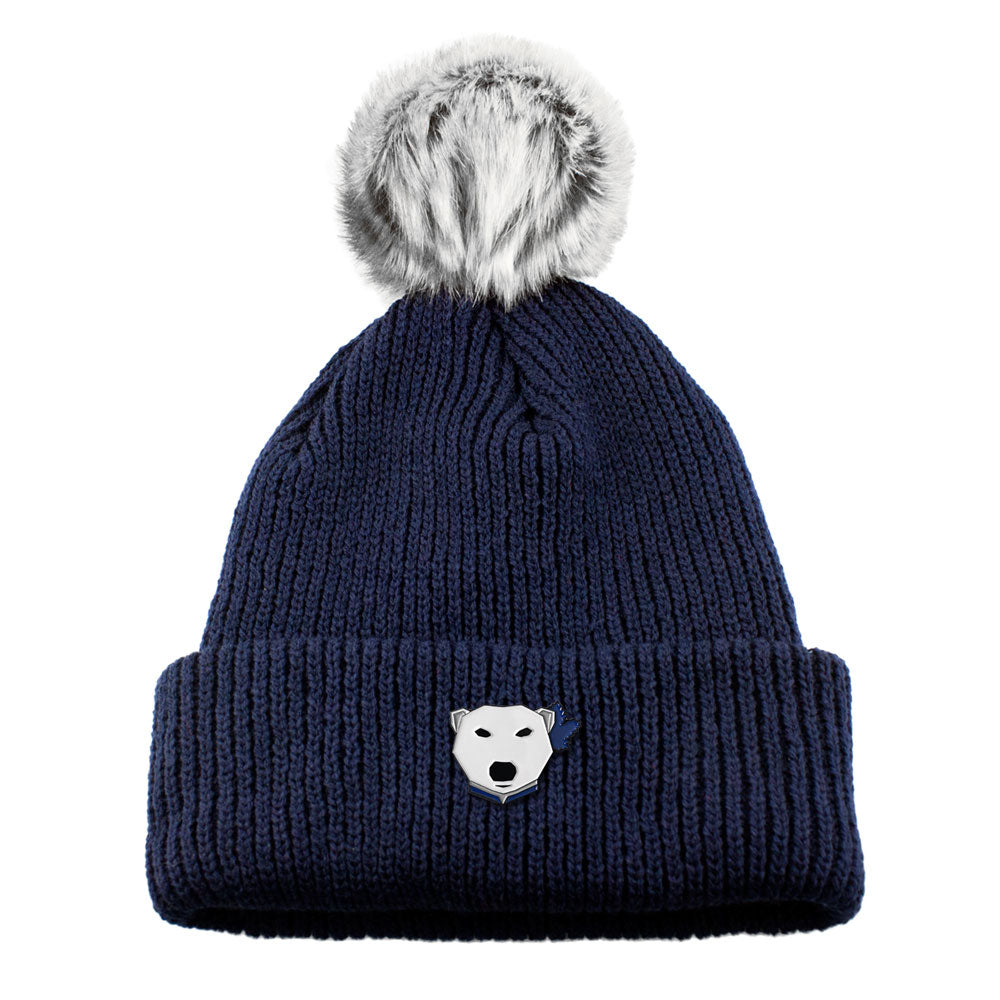 Fur Pom Knit (Navy) - LOYAL to a TEE