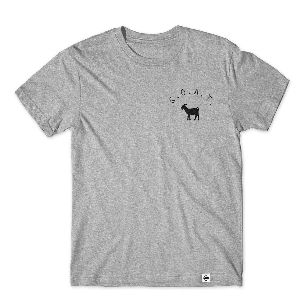 Pocket GOAT Unisex Tee (Heather Grey) - LOYAL to a TEE