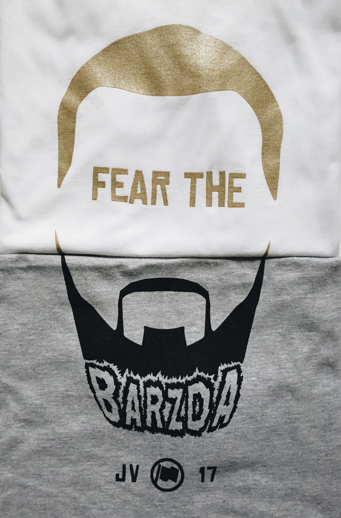 Fear The Barzda Tee (White) - LOYAL to a TEE