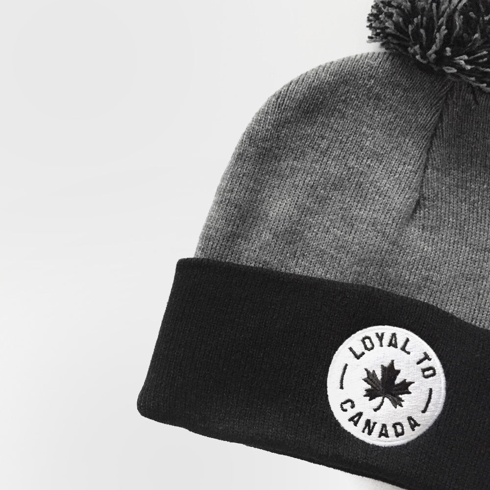 LOYAL to CANADA Pom Knit (Dark Heather Grey/Black) - LOYAL to a TEE