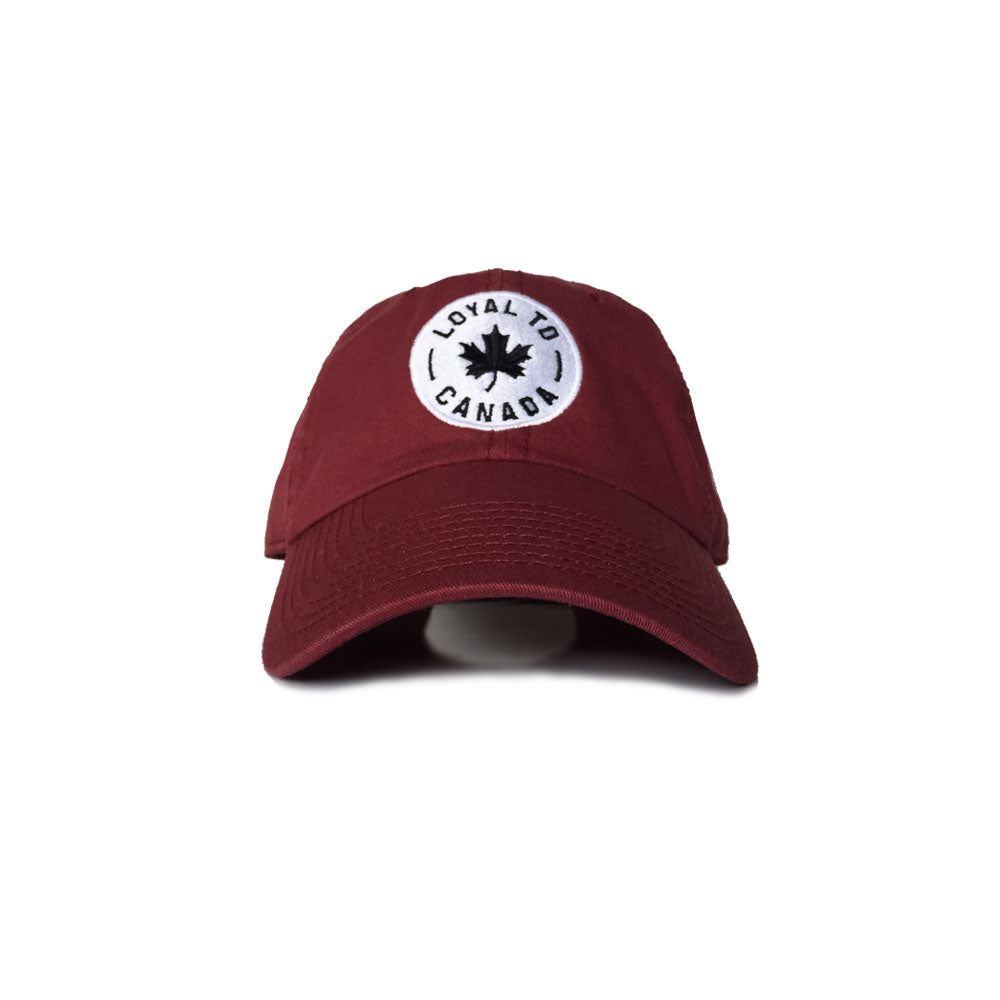 LOYAL to CANADA Strapback (Maroon) - LOYAL to a TEE
