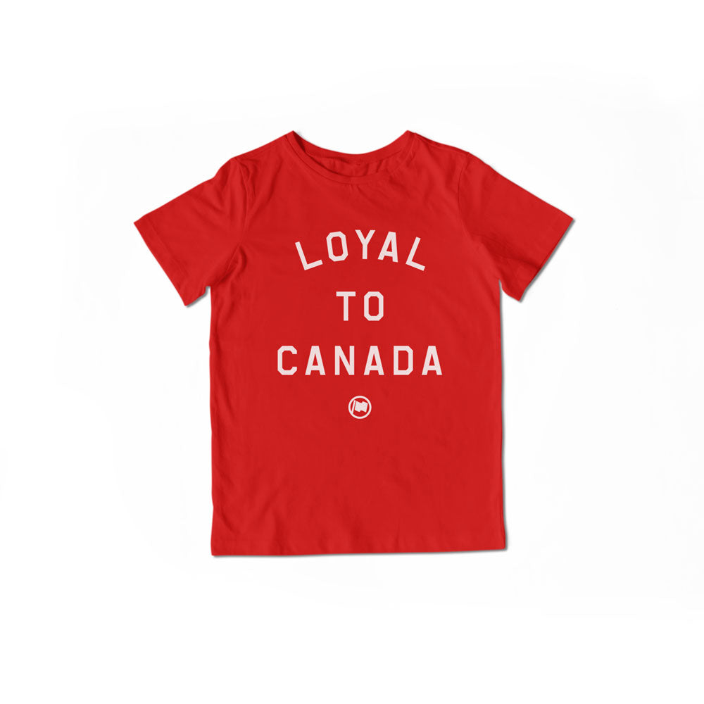 LOYAL to CANADA Unisex Kids Tee (Red) - LOYAL to a TEE