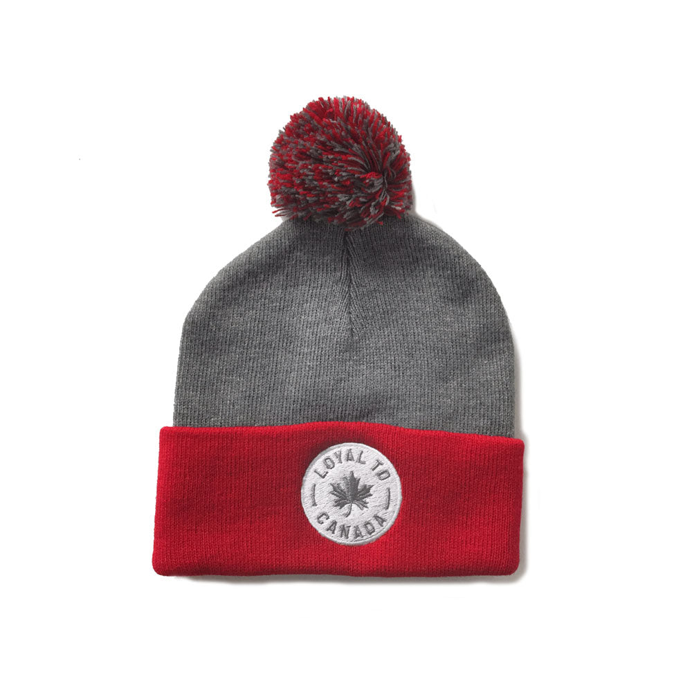 LOYAL to CANADA Pom Knit (Red/Heather Grey) - LOYAL to a TEE